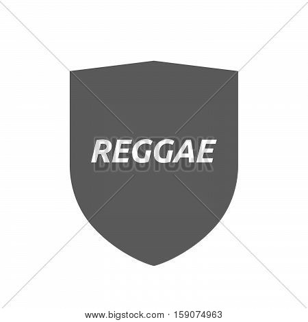 Isolated Shield With    The Text Reggae