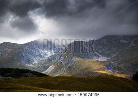 High Mountains And Clouds, Beautiful Natura Landscape