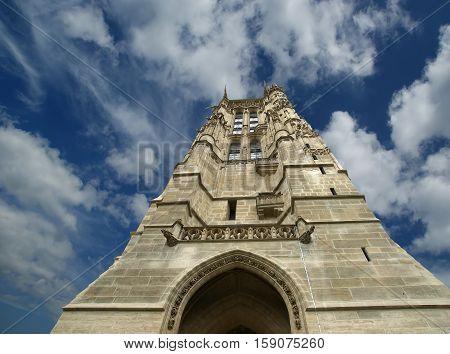 Tour Saint-jacques, Is A Monument Located In The 4Th Arrondissement Of Paris, France