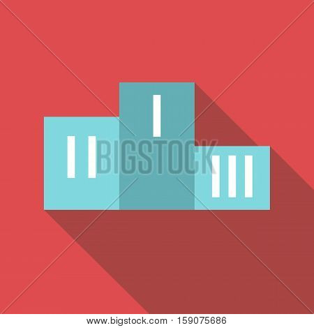 Prize podium icon. Flat illustration of prize podium vector icon for web design