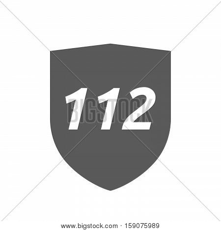 Isolated Shield With    The Text 112