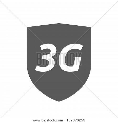 Isolated Shield With    The Text 3G