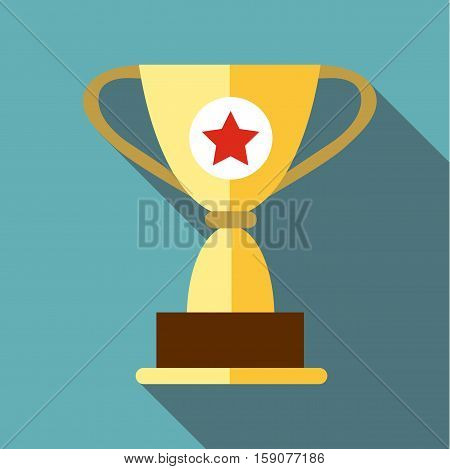 Cup for victory icon. Flat illustration of cup for victory vector icon for web design
