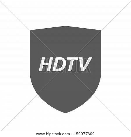 Isolated Shield With    The Text Hdtv