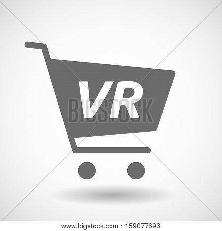 Isolated Cart With    The Virtual Reality Acronym Vr