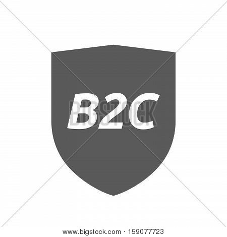 Isolated Shield With    The Text B2C