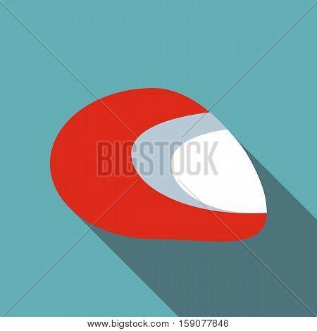 Racing helmet icon. Flat illustration of racing helmet vector icon for web design