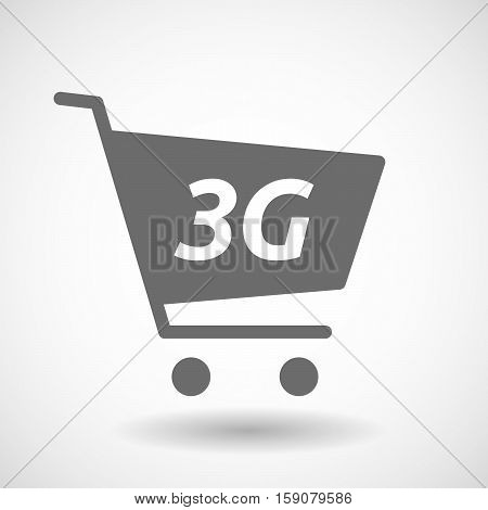 Isolated Cart With    The Text 3G