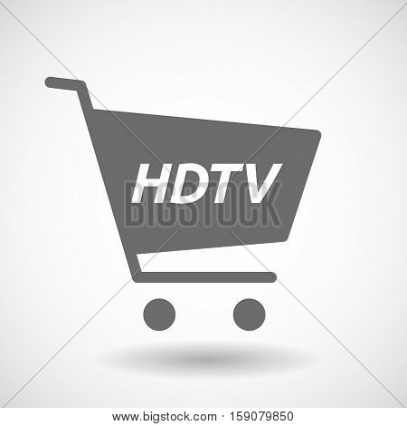 Isolated Cart With    The Text Hdtv