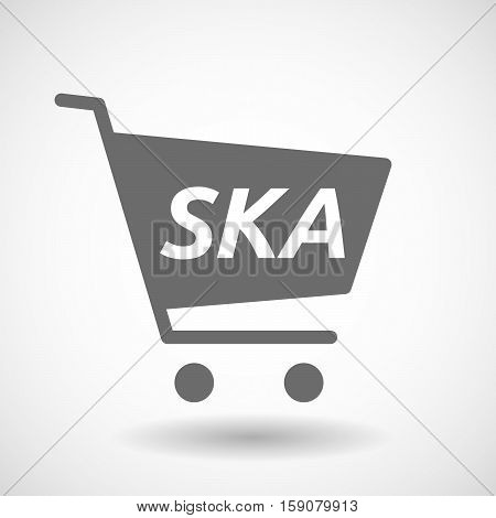 Isolated Cart With    The Text Ska