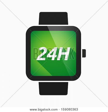 Isolated Smart Watch With    The Text 24H