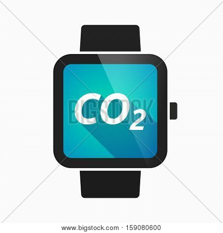 Isolated Smart Watch With    The Text Co2