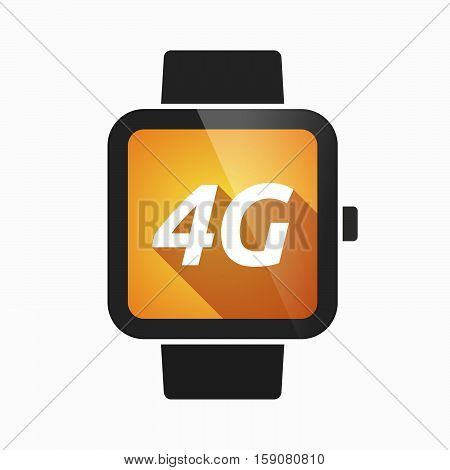 Isolated Smart Watch With    The Text 4G
