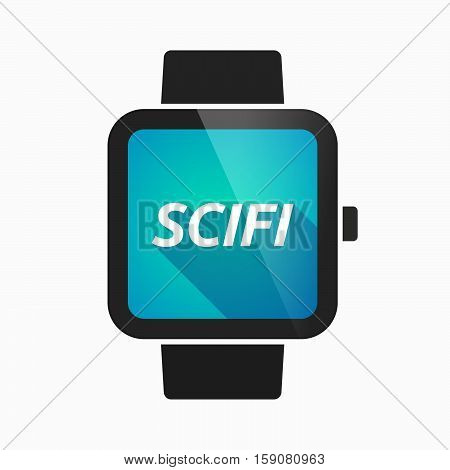 Isolated Smart Watch With    The Text Scifi