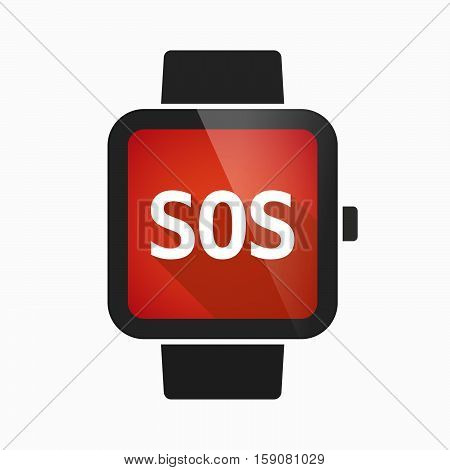 Isolated Smart Watch With    The Text Sos