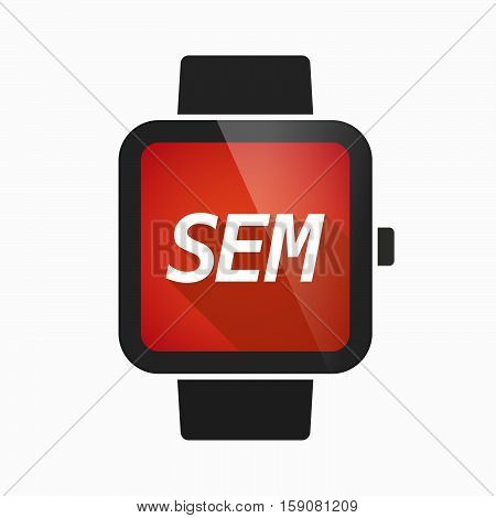 Isolated Smart Watch With    The Text Sem