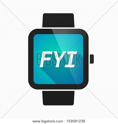 Isolated Smart Watch With    The Text Fyi