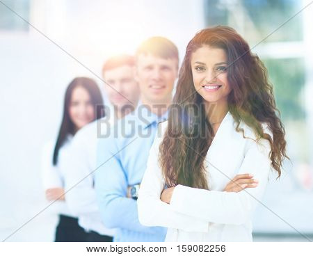 Group portrait of a professional business team