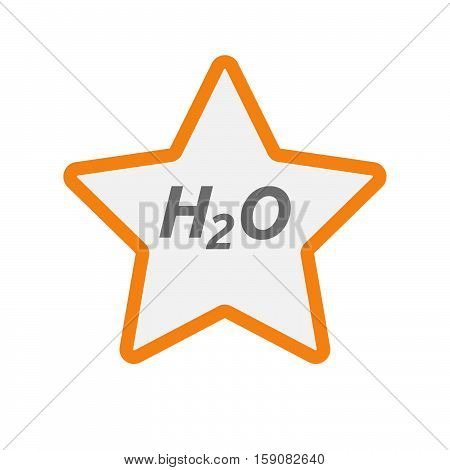 Isolated Star Icon With    The Text H2O