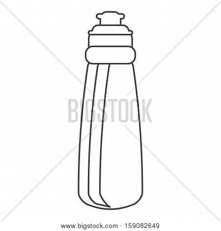 outline bottle water hydration fitness gym vector illustration eps 10