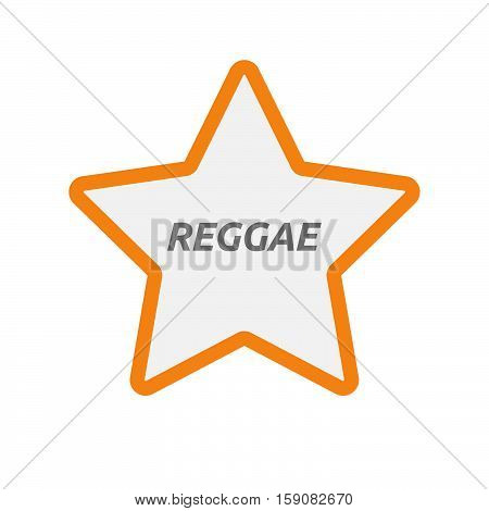 Isolated Star Icon With    The Text Reggae