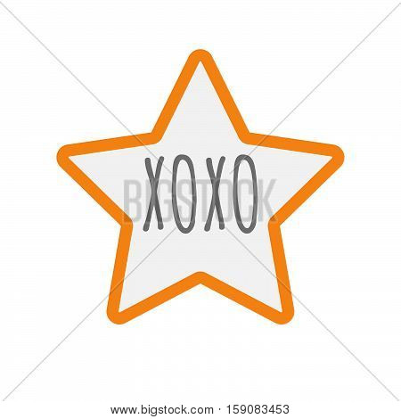Isolated Star Icon With    The Text Xoxo
