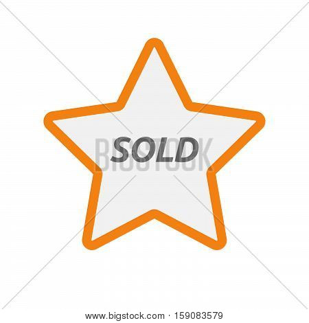 Isolated Star Icon With    The Text Sold