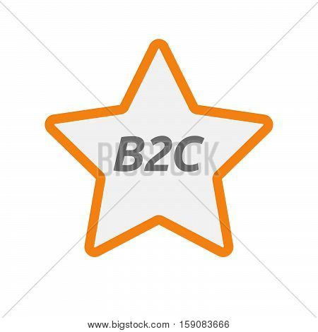 Isolated Star Icon With    The Text B2C