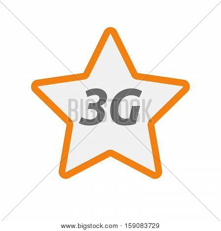 Isolated Star Icon With