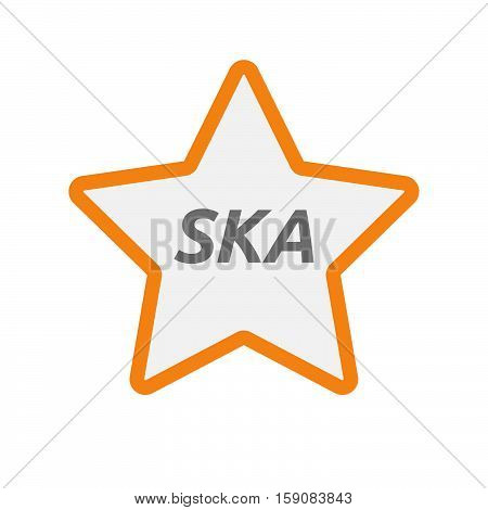 Isolated Star Icon With    The Text Ska