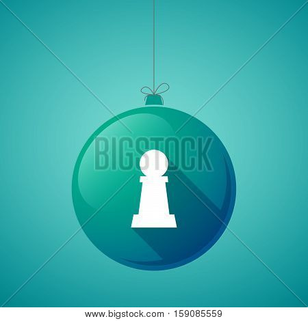 Long Shadow Christmas Ball With A  Pawn Chess Figure