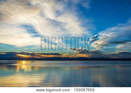 Yellowstone Lake Sunrse