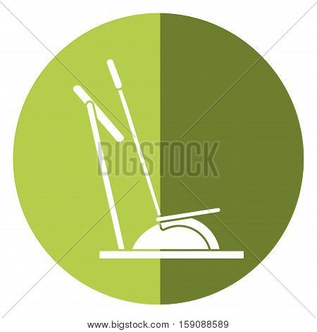 elliptical walker trainer machine gym shadow vector illustration eps 10