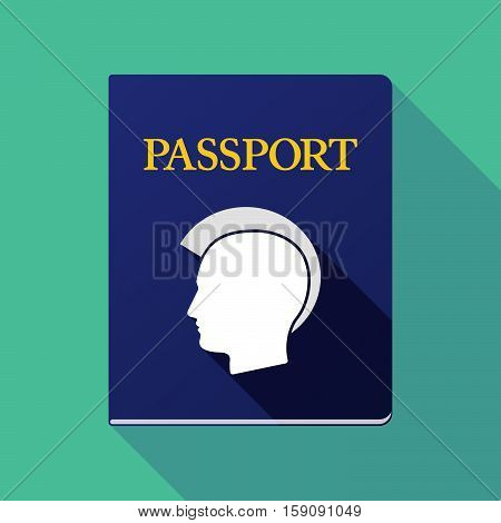 Long Shadow Passport With  A Male Punk Head Silhouette