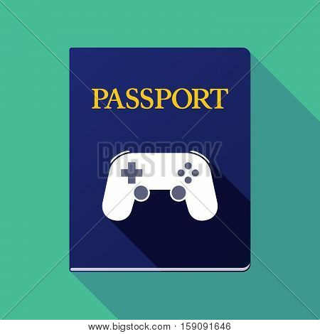 Long Shadow Passport With  A Game Pad