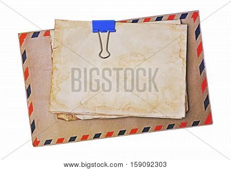 Airmail Envelope And Blank Paper Sheet
