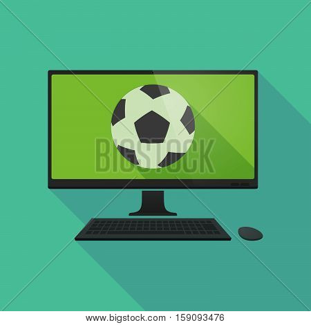 Long Shadow Pc With  A Soccer Ball