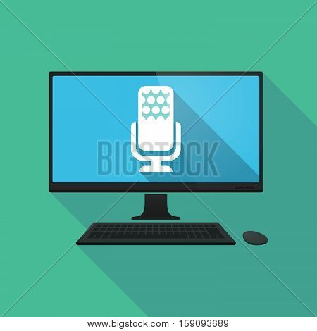 Long Shadow Pc With  A Microphone Sign