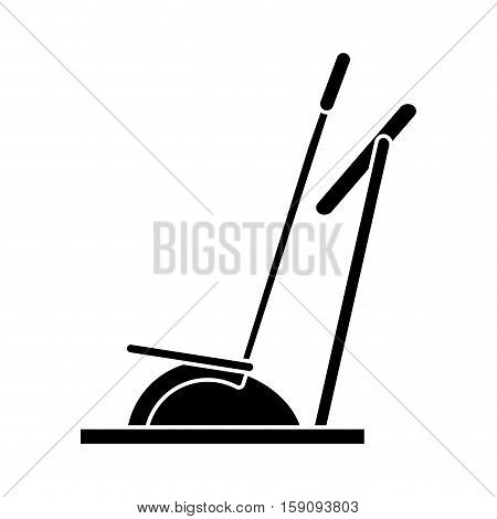 silhouette elliptical walker trainer machine gym vector illustration eps 10