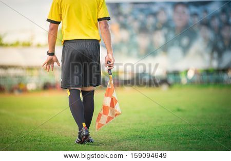 soccer or football assistant referee in Thailand.