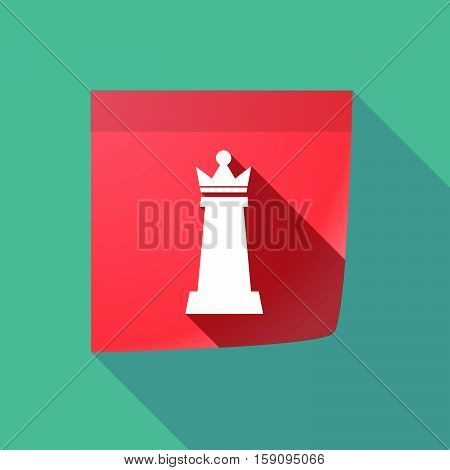 Long Shadow Note With A  Queen   Chess Figure
