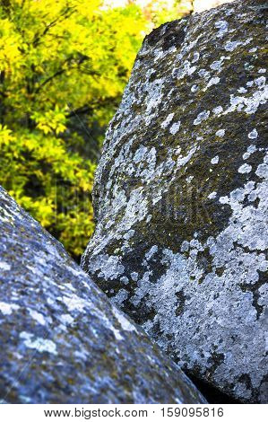 close-up texture of the stone at mountains