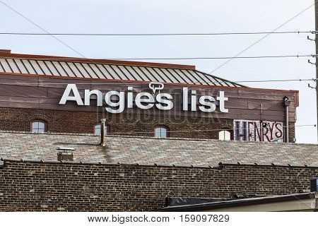 Indianapolis - Circa November 2016: Angie's List Corporate Office and Headquarters VI