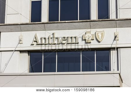 Indianapolis - Circa November 2016: Anthem World Headquarters. Anthem is a Trusted Health Insurance Plan Provider XI
