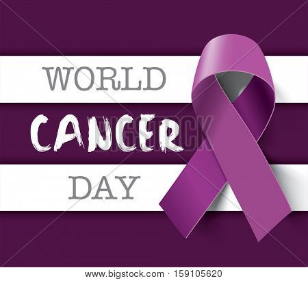 World Cancer Day concept. Vector Illustration