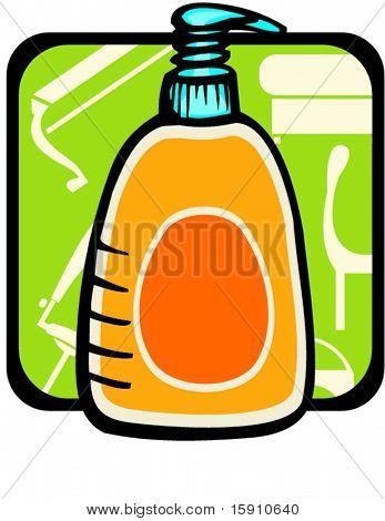 Liquid soap.Pantone colors.Vector illustration