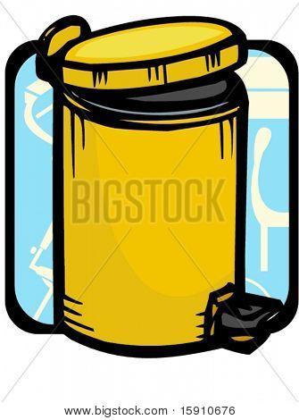 Recycle bin.Pantone colors.Vector illustration