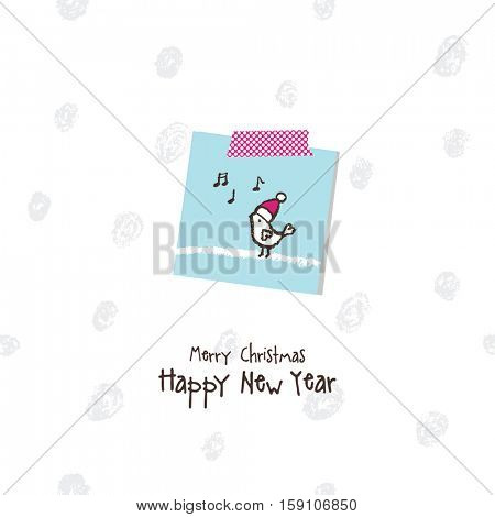 New year greeting card with copy space