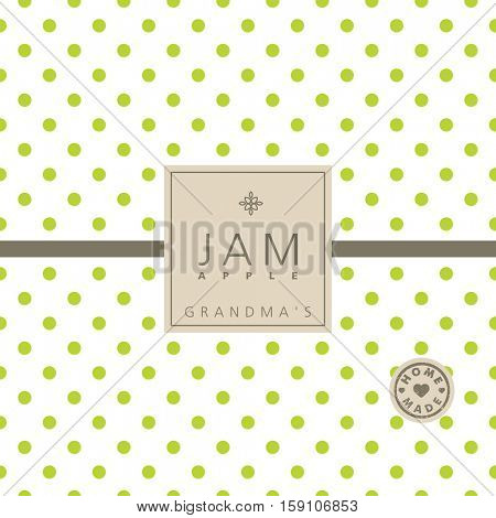 Apple jam label. Swatch pattern included.