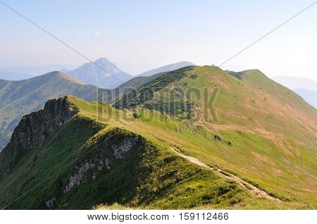 Ridgeway, mount Chleb, Velky Rozsutec,Mala Fatra national park, Lesser Fatra, Little Fatra, on the top, close to heaven,